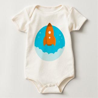 Body Para Bebê Descolagem do navio de Rocket