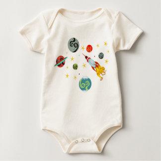 Body Para Bebê Descubra o universo retro