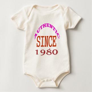 Body Para Bebê Desde 1980 design autêntico do aniversário