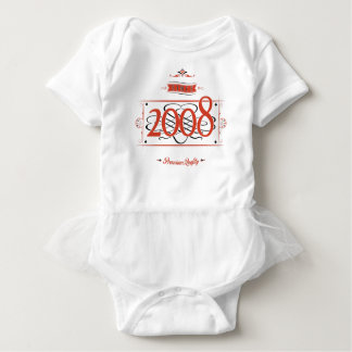 Body Para Bebê Desde 2008 (Red&Black)