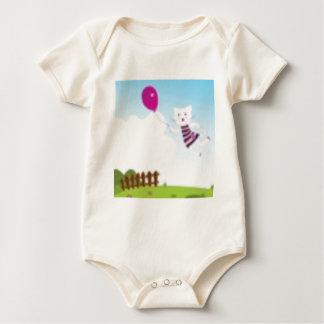 Body Para Bebê Desenhistas que voam o gatinho com balão