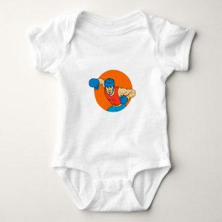 Body Para Bebê Desenho aéreo do círculo do perfurador do