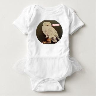 Body Para Bebê desenho branco da coruja