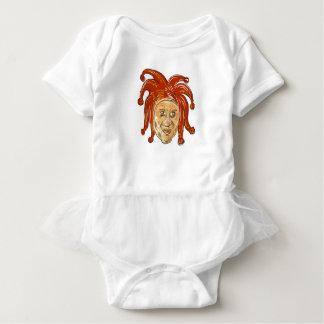 Body Para Bebê Desenho da cabeça do bobo da corte da corte