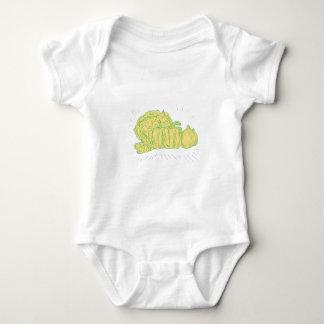 Body Para Bebê Desenho da cebola do capsicum de Brocolli