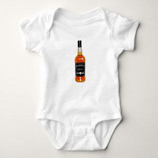 Body Para Bebê Desenho da garrafa de uísque isolado em Backgroun