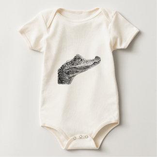 Body Para Bebê Desenho da tinta do crocodilo do bebê