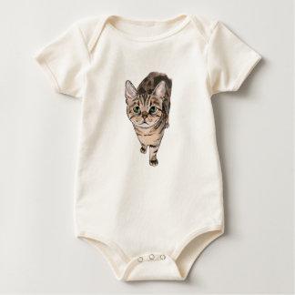 Body Para Bebê Desenho do gatinho de Shorthair do americano de