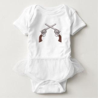 Body Para Bebê Desenho do revólver da pistola isolado em