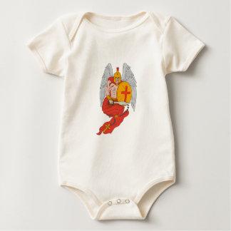 Body Para Bebê Desenho espartano do rosário da espada do anjo do