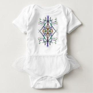 Body Para Bebê Desenho geométrico no fundo branco