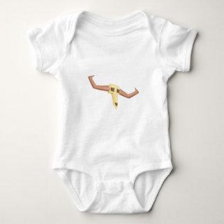 Body Para Bebê Desenho inoperante do Scull de Buffal isolado em