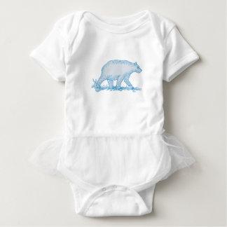 Body Para Bebê Desenho lateral de passeio do urso polar