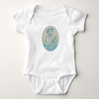 Body Para Bebê Desenho oval da caneca para cerveja do bebedor de