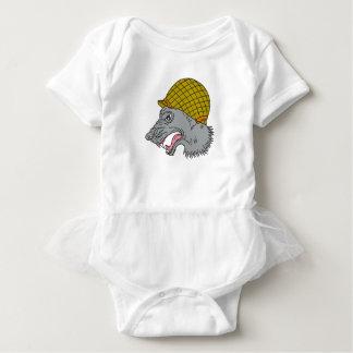 Body Para Bebê Desenho principal do capacete WW2 da rosnadura do