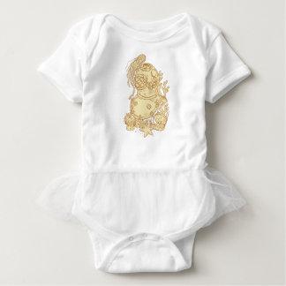 Body Para Bebê Desenho subaquático do capacete do mergulho da