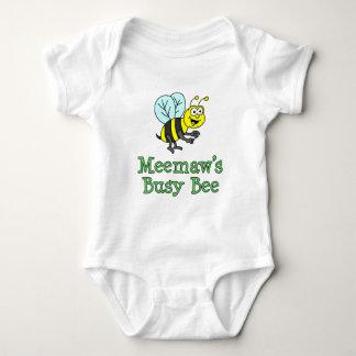 Body Para Bebê Desenhos animados bonitos da abelha ocupada de