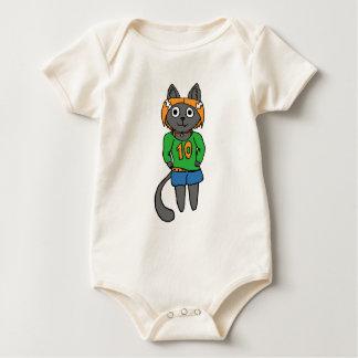 Body Para Bebê Desenhos animados bonitos do gato na moda