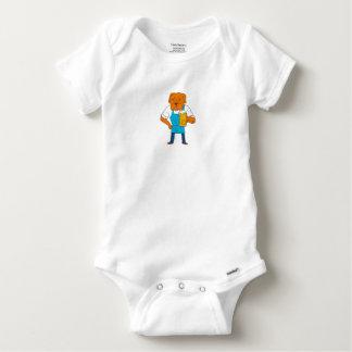 Body Para Bebê Desenhos animados da mascote da caneca do