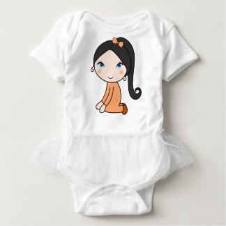 Body Para Bebê Desenhos animados da menina do cabelo da trança