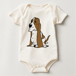Body Para Bebê Desenhos animados do cão de Basset