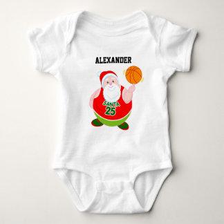 Body Para Bebê Desenhos animados do divertimento de Papai Noel