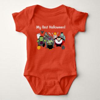 Body Para Bebê Desenhos animados do divertimento de um grupo de