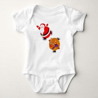 Body Para Bebê Desenhos animados do divertimento do patinagem no