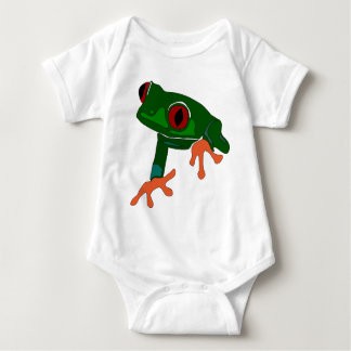 Body Para Bebê Desenhos animados do sapo verde