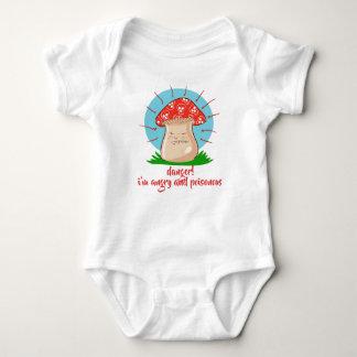 Body Para Bebê desenhos animados engraçados do cogumelo irritado