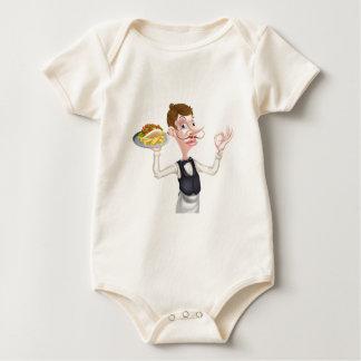Body Para Bebê Desenhos animados garçom perfeito de Kebab e de