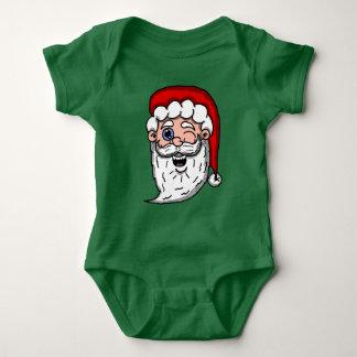 Body Para Bebê Desenhos animados que pisc a cabeça do papai noel