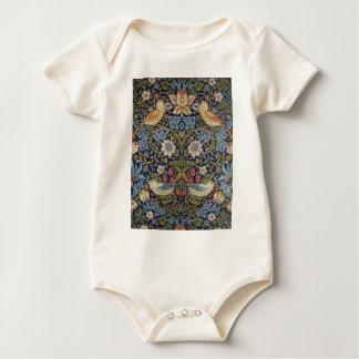 Body Para Bebê Design 1883 do ladrão da morango de William Morris