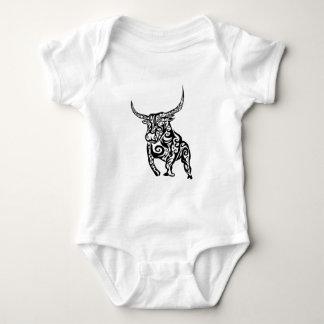 Body Para Bebê design animal da arte do touro