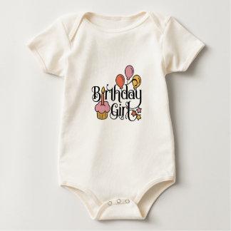 Body Para Bebê Design bonito da menina do aniversário para o ø e
