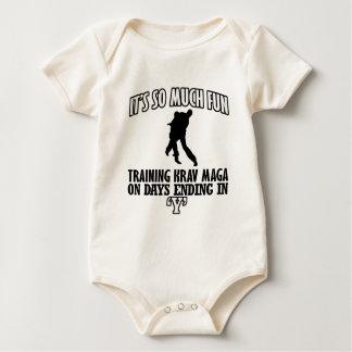 Body Para Bebê Design BONITO de Krav Maga