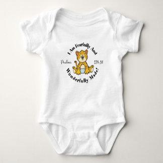 Body Para Bebê Design bonito do 139:14 dos salmos