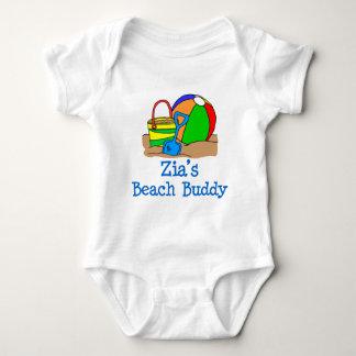 Body Para Bebê Design bonito do amigo da praia de Zia