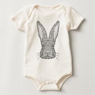 Body Para Bebê Design bonito do coelho de coelho