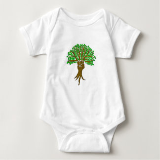 Body Para Bebê Design da árvore do guerreiro da terra, grande