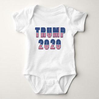 Body Para Bebê Design da bandeira dos Estados Unidos do trunfo