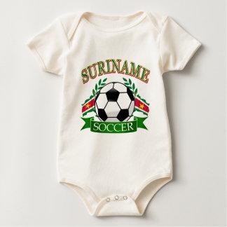 Body Para Bebê Design da bola de futebol de Suriname