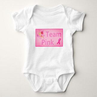 Body Para Bebê Design da borboleta do rosa da equipe da