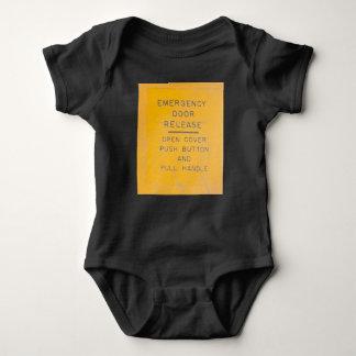 Body Para Bebê Design da liberação da porta de emergência do