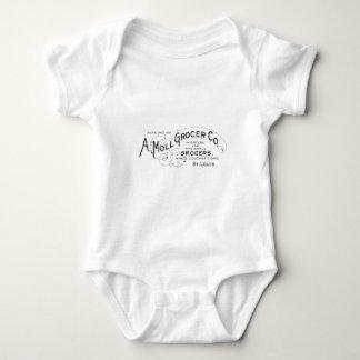 Body Para Bebê Design da tipografia do vintage do quitandeiro