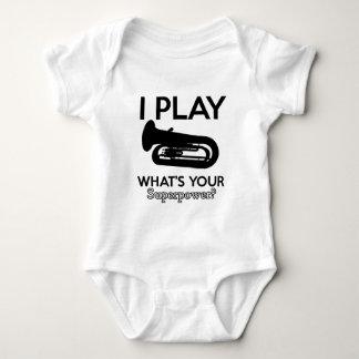 Body Para Bebê design da tuba