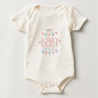 Body Para Bebê Design de papel Templ do convite do chá de fraldas