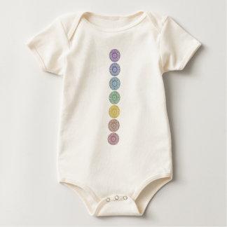 Body Para Bebê Design de sete círculos do chakra