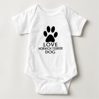 BODY PARA BEBÊ DESIGN DO CÃO DE NORWICH TERRIER DO AMOR
