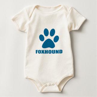 BODY PARA BEBÊ DESIGN DO CÃO DO FOXHOUND